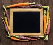 Fresh organic rainbow carrots Stock Photo