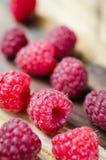 Fresh Organic Raspberry on Rustic Background. Stock Image