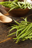 Fresh Organic Raw French Green Beans Stock Photo
