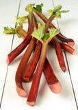 Fresh organic rhubarb Stock Photos