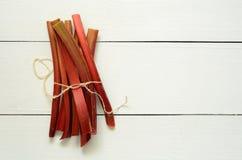 Fresh organic rhubarb Stock Photography