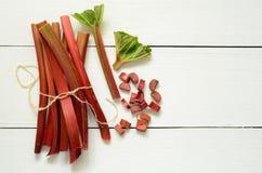 Fresh organic rhubarb Stock Photo