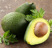 Fresh organic ripe avocado Stock Photo