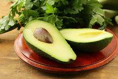 Fresh organic ripe avocado Stock Photos