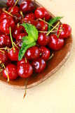 Fresh organic ripe black cherry Stock Photography