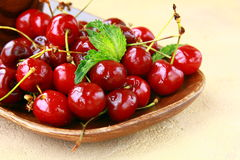 Fresh organic ripe black cherry Royalty Free Stock Image