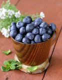 Fresh organic ripe blueberries Royalty Free Stock Photos