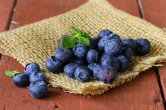 Fresh organic ripe blueberries Stock Photos