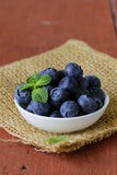 Fresh organic ripe blueberries Royalty Free Stock Photography