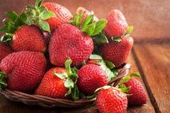 Fresh organic ripe strawberry with water splash Royalty Free Stock Image
