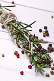 Fresh organic rosemary Stock Photo