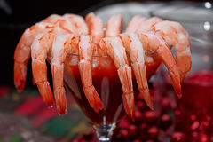 Fresh Organic Shrimp Cocktail Royalty Free Stock Images