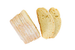 Fresh organic Slices bread French traditional Royalty Free Stock Image