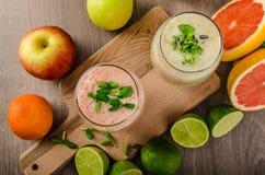 Fresh organic smoothie Stock Photos