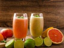 Fresh organic smoothie Stock Photo
