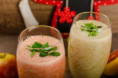 Fresh organic smoothie Stock Images