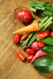 Fresh organic spring vegetables Royalty Free Stock Images