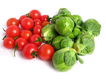 Fresh organic sprouts and tomatoes Royalty Free Stock Images