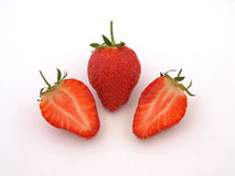 Fresh organic strawberries. Fresh organic strawberries ready to eat as part of the five a day Stock Photos