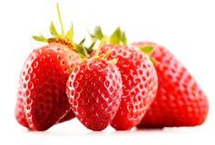 Fresh organic strawberries on white background Royalty Free Stock Photos