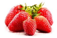 Fresh organic strawberries on white background Stock Image