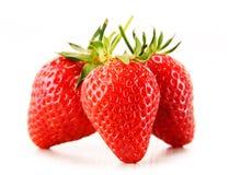 Fresh organic strawberries on white background Royalty Free Stock Photo