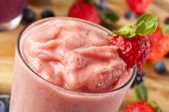 Fresh Organic Strawberry Smoothie. Organic Strawberry Smoothie made with fresh Ingredients Stock Images