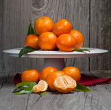 Fresh organic tangerines Royalty Free Stock Photography