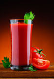 Fresh organic tomato juice Stock Photos