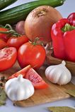 Fresh Organic Tomatoes Royalty Free Stock Photo
