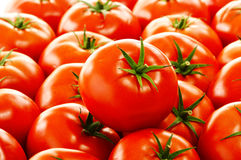 Fresh organic tomatoes on street stall Royalty Free Stock Images
