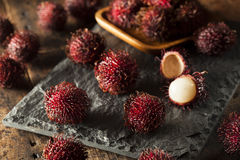 Fresh Organic Tropical Rambutan Stock Photo