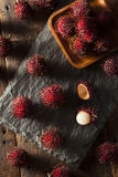 Fresh Organic Tropical Rambutan Stock Photography