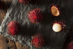 Fresh Organic Tropical Rambutan Stock Photos