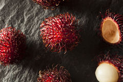 Fresh Organic Tropical Rambutan Stock Images