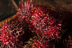 Fresh Organic Tropical Rambutan Royalty Free Stock Photos