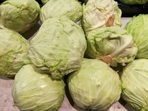 Cabbage on sale at organic product rmarket. Stock Photography