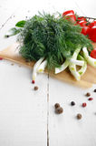 Fresh organic vegetable set Stock Image