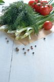 Fresh organic vegetable set Royalty Free Stock Photography