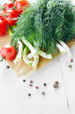 Fresh organic vegetable set Royalty Free Stock Photo