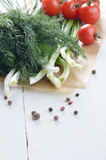 Fresh organic vegetable set Royalty Free Stock Images