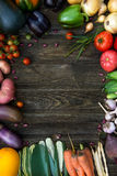 Fresh Organic Vegetables. Autumn Harvest Concept. Potatoes, toma Stock Photo