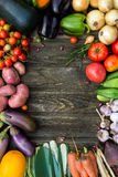 Fresh Organic Vegetables. Autumn Harvest Concept. Potatoes, toma Royalty Free Stock Images
