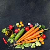Fresh organic vegetables Royalty Free Stock Images