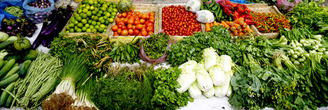 Fresh and organic vegetables at farmer local market Stock Images