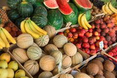 Fresh and organic vegetables at farmers market Royalty Free Stock Images
