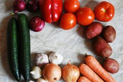 Fresh organic vegetables. Food background. Healthy food from garden stock images