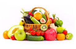 Fresh, organic vegetables and fruits Stock Photo