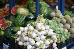 Fresh and organic vegetables and fruits in market Stock Photo