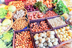Fresh organic vegetables at local farmers market Stock Image
